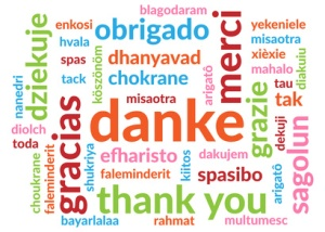 Wordcloud Danke
